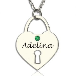 Personalized Heart Keepsake Pendant with Name Sterling Silver