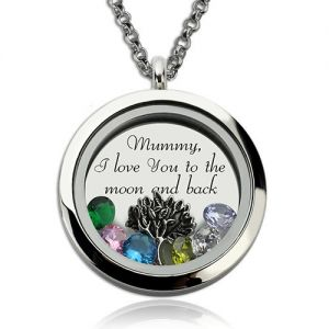Personalized Family Floating Crystal Living Locket