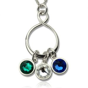 Personalized birthstone jewelry personalized birthstone infinity charm necklace aloadofball Images