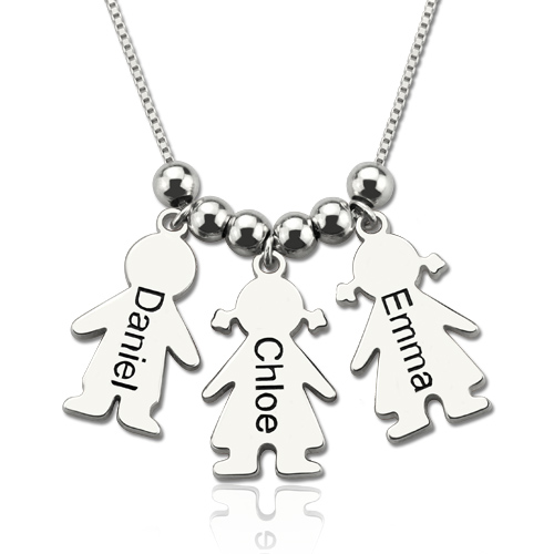 fd8c60e76 Personalized Mother Necklace with Kids Charm Mother's Day Gift