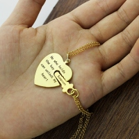 Key to my hear necklace