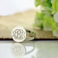 Engraved Initial Rings