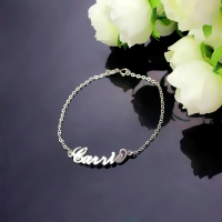 White Gold Name Bracelet