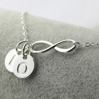 Custom Infinity Initial Necklace,Sister Necklace,Friend Necklace